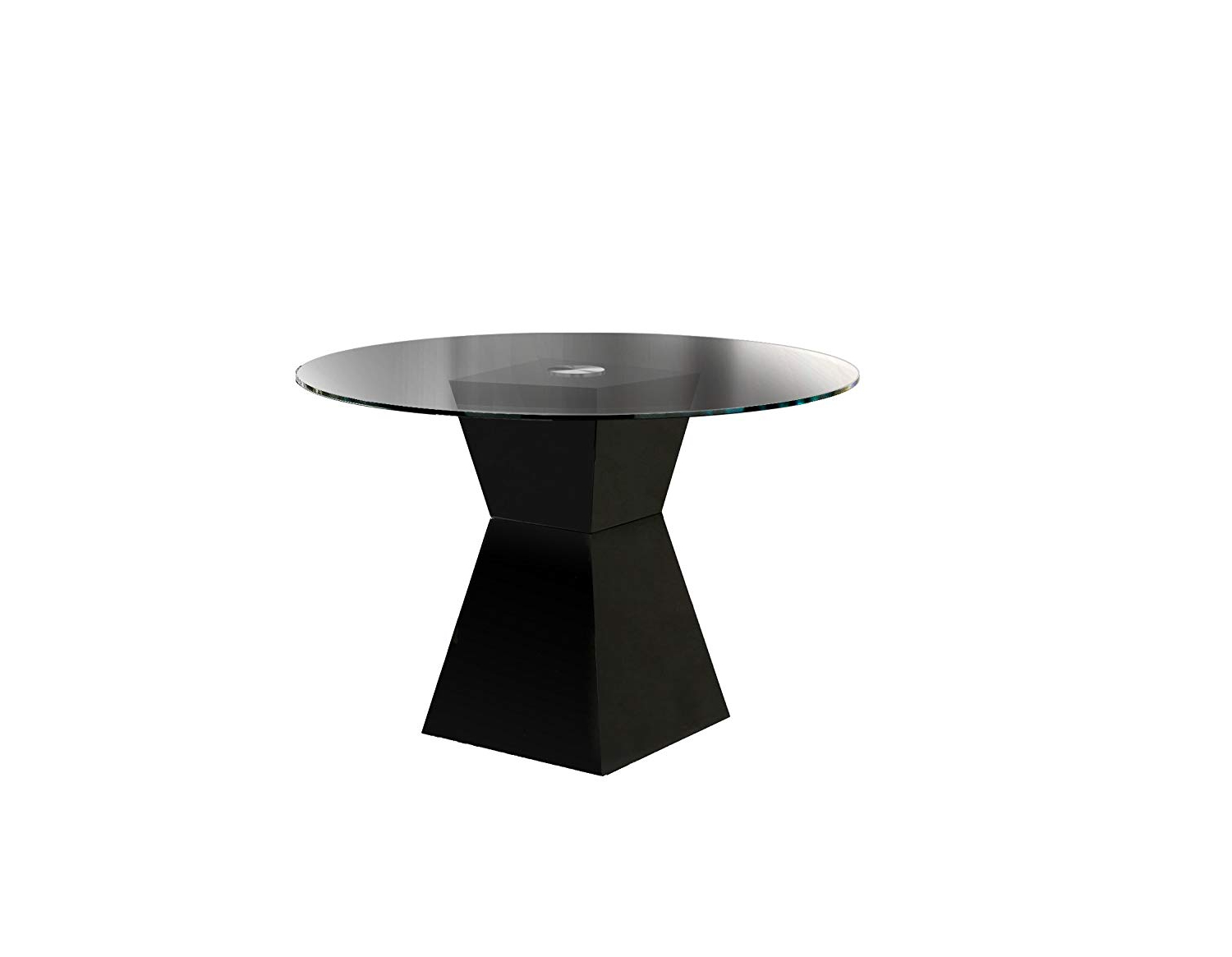 Most Up To Date Modern Round Glass Top Dining Tables For Amazon: Furniture Of America Ethervale Modern Round (View 17 of 30)