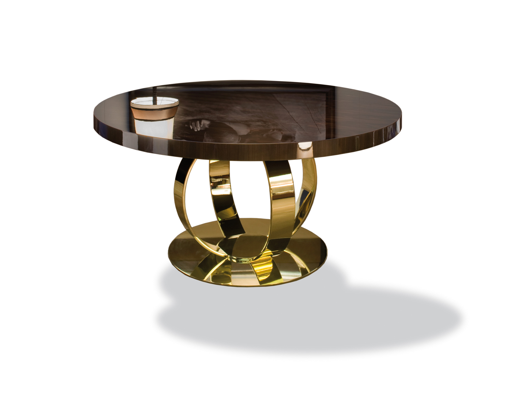 Most Up To Date Nella Vetrina Andrew Modern Italian Designer Round Wood Pertaining To Dom Round Dining Tables (View 8 of 30)