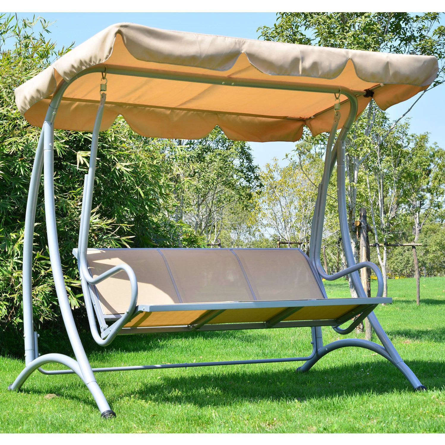 Most Up To Date Outdoor Canopy Hammock Porch Swings With Stand For Mossley Canopy Porch Swing With Stand (Gallery 7 of 30)