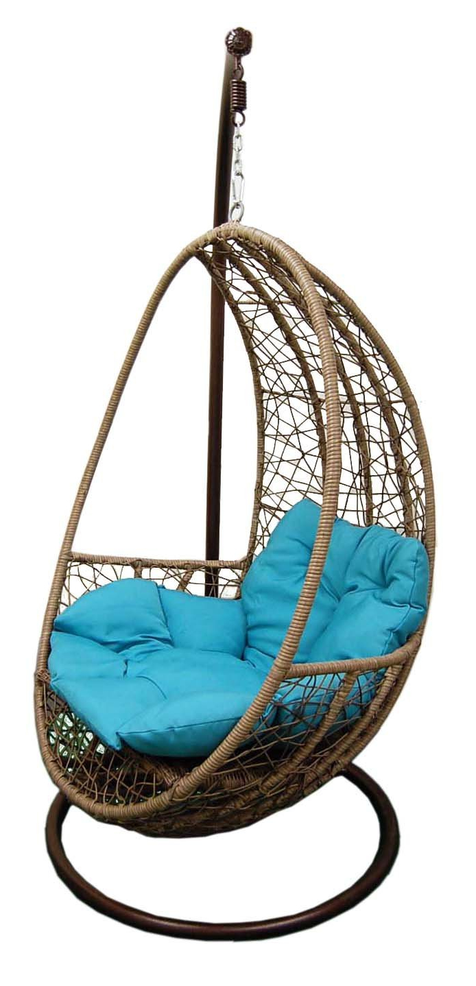 Most Up To Date Outdoor Wicker Plastic Tear Porch Swings With Stand Regarding China Hanging Tear Drop Resin Wicker Swing Chair (Gallery 19 of 30)