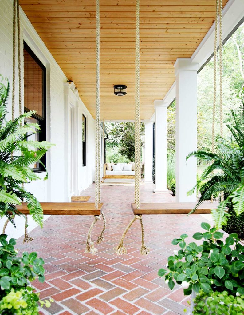 Most Up To Date Patio Hanging Porch Swings Intended For How To Build And Hang Single Seat Porch Swings – Plank And (Gallery 25 of 30)