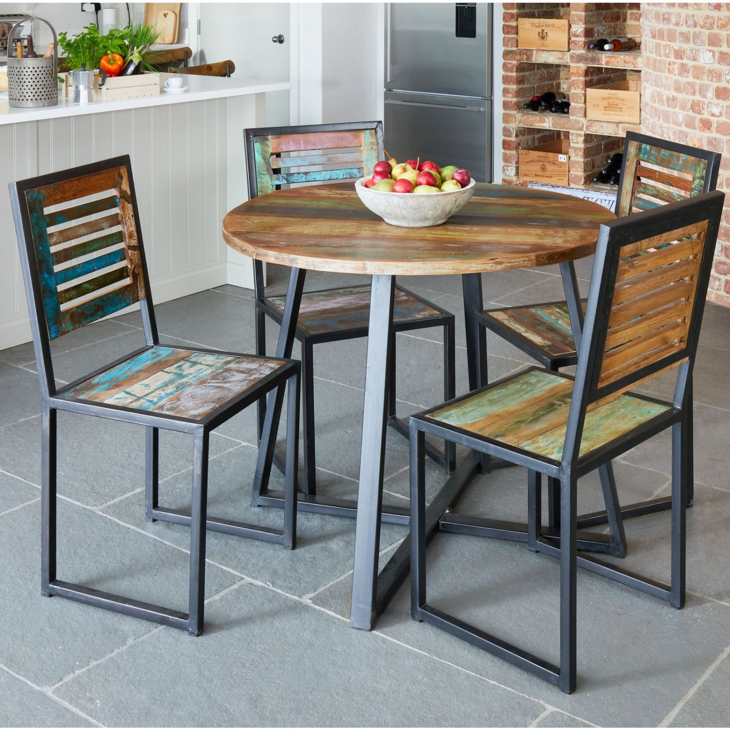 Most Up To Date Small Round Dining Tables With Reclaimed Wood With Details About Agra Reclaimed Wood Furniture Round Dining Table (Gallery 10 of 30)