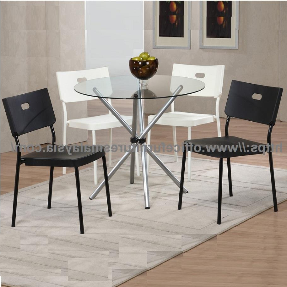 Most Up To Date Tempered Glass Top Dining Table With Chrome Ygcdt8479t Klang Valley Intended For Chrome Dining Tables With Tempered Glass (Gallery 26 of 30)