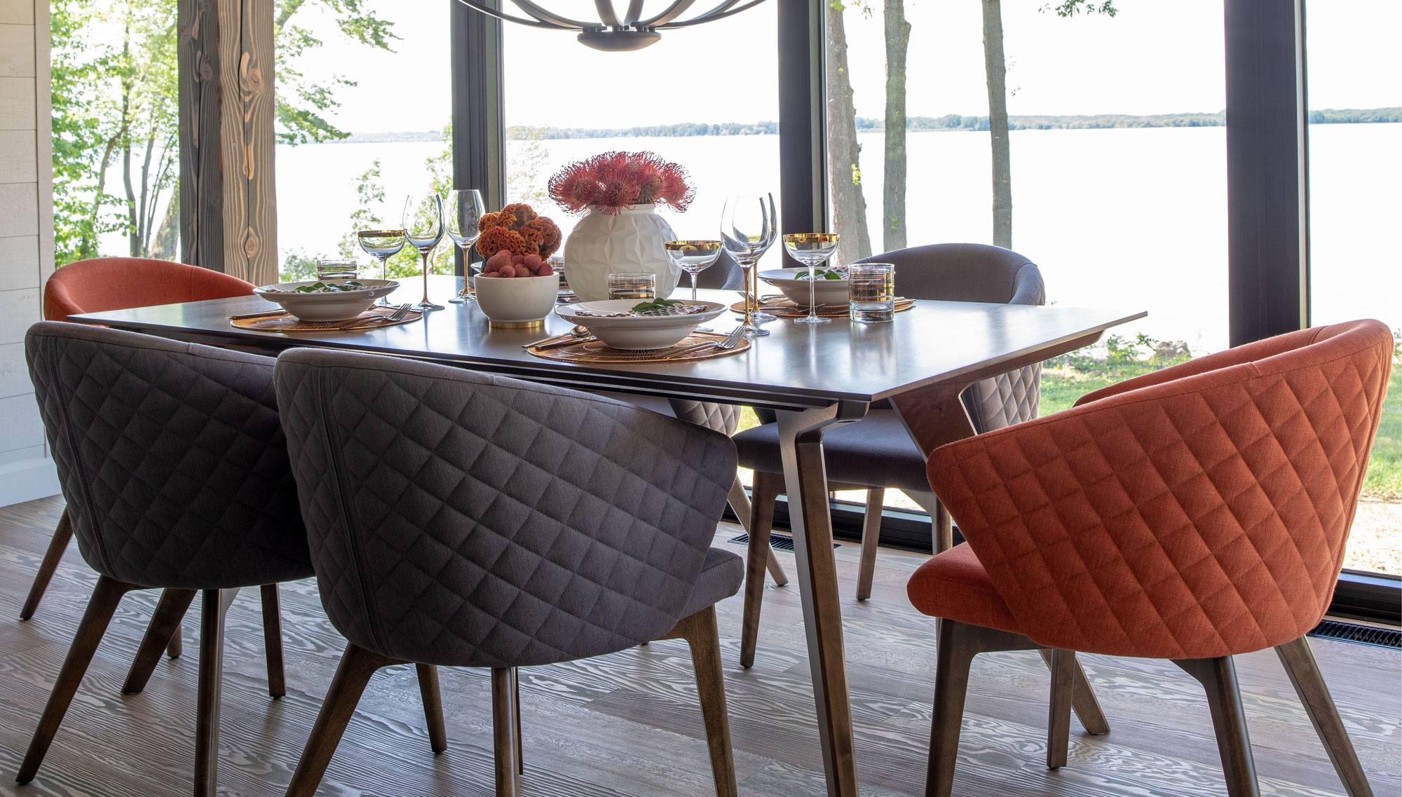 Most Up To Date Transitional 6 Seating Casual Dining Tables With Handcrafted In North America – Kitchen And Dining Room – Canadel (View 16 of 30)