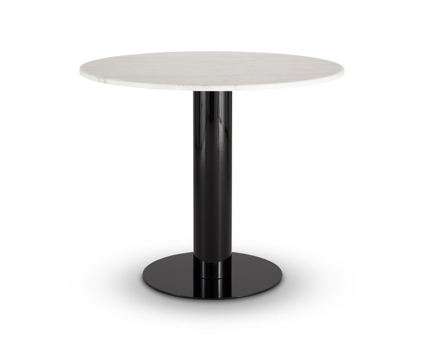 Most Up To Date Tube Dining Table White Marble Top 900mm Throughout Dining Tables With White Marble Top (View 25 of 30)