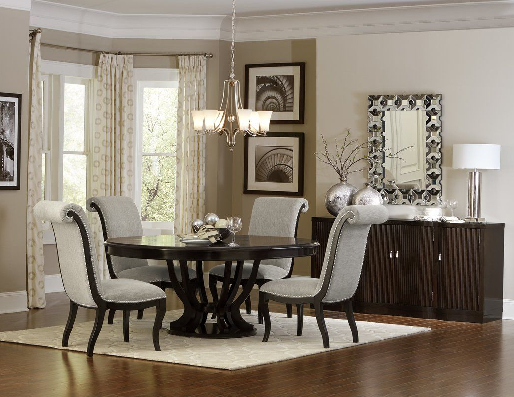 Most Up To Date Vintage Cream Frame And Espresso Bamboo Dining Tables For Sidra Dining Table (View 20 of 30)