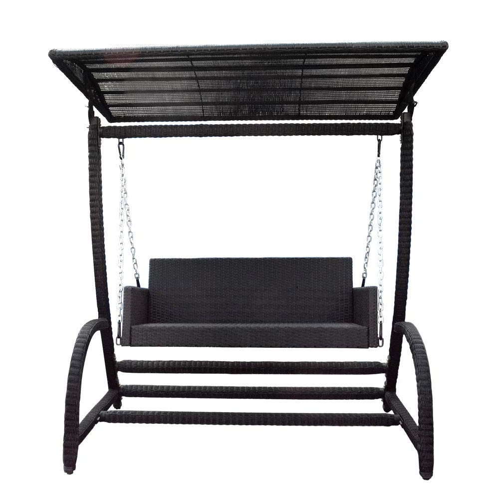 Most Up To Date Wicker Glider Outdoor Porch Swings With Stand For Amazon : Mh Global Bed Hanging Chair Bench W/stand Patio (View 17 of 30)