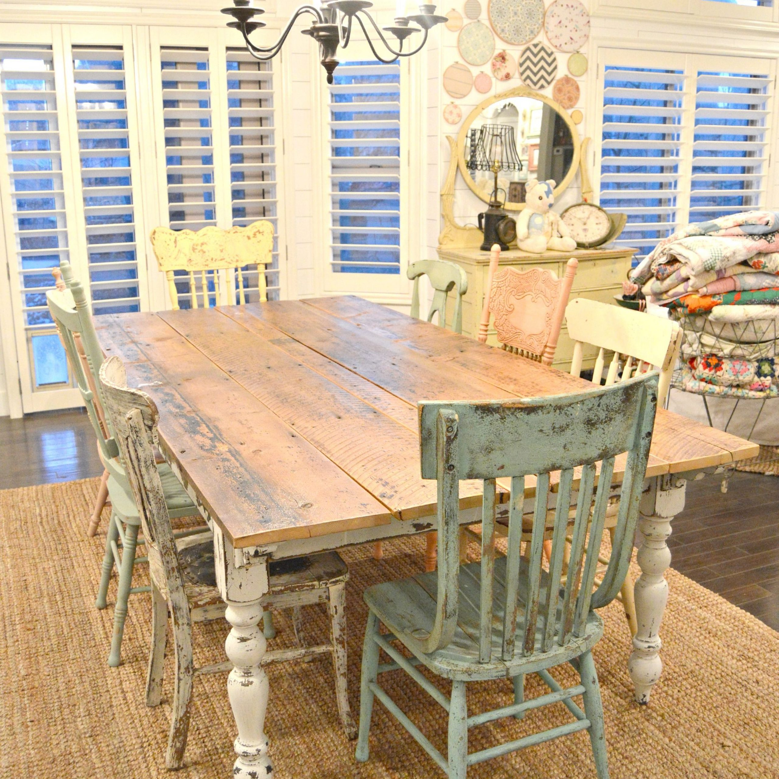 My New Farm Style Table W/mismatched Chairs! (View 13 of 30)