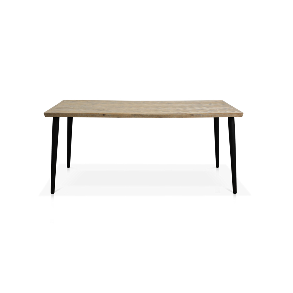Napili 1800l Dining Table Regarding Widely Used Acacia Dining Tables With Black Legs (View 13 of 30)