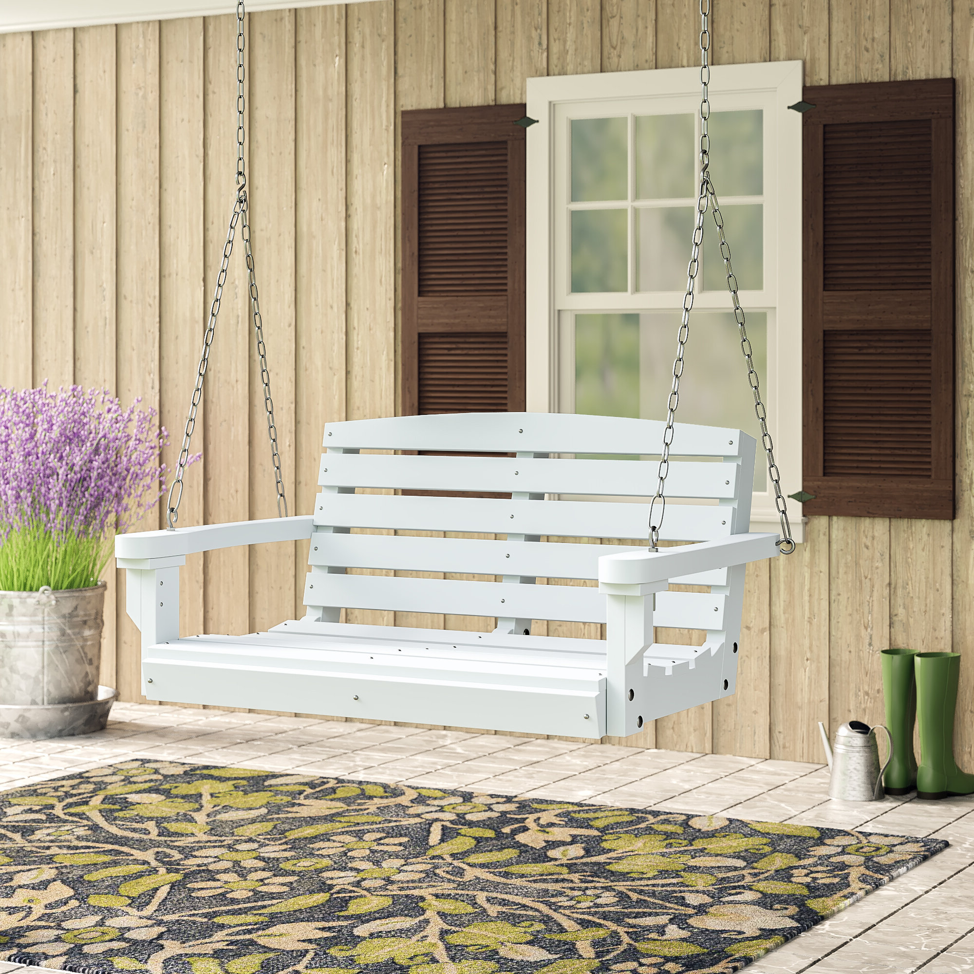 Nautical Porch Swings Regarding Most Current Laurel Foundry Modern Farmhouse Sawyerville Porch Swing (Gallery 20 of 30)