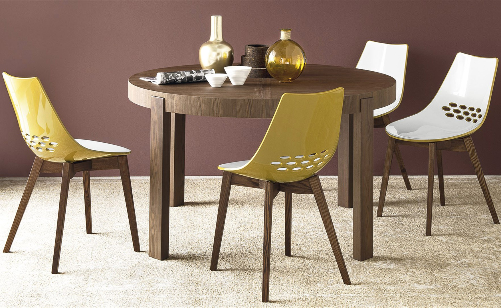 Neo Round Dining Tables For Fashionable Calligaris Cs/398 Rd Atelier Round Dining Table, Italy – Neo (Gallery 9 of 30)