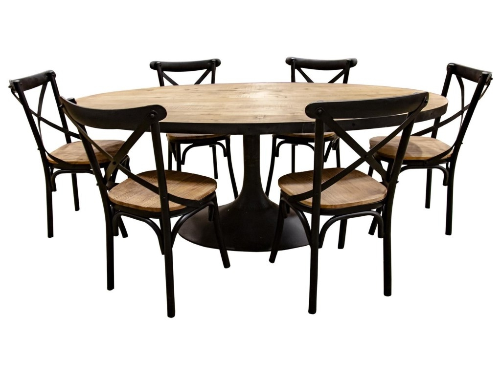 Nest Home Collections Miranda Oval Natural Wood Dining Table Regarding Most Popular Iron Wood Dining Tables (Gallery 9 of 30)