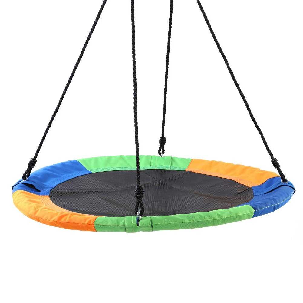 "Nest Swings With Adjustable Ropes Throughout Most Popular Amazon: Filfeel Outdoor Swing Tree Hanging 40"" Saucer (Gallery 18 of 30)"
