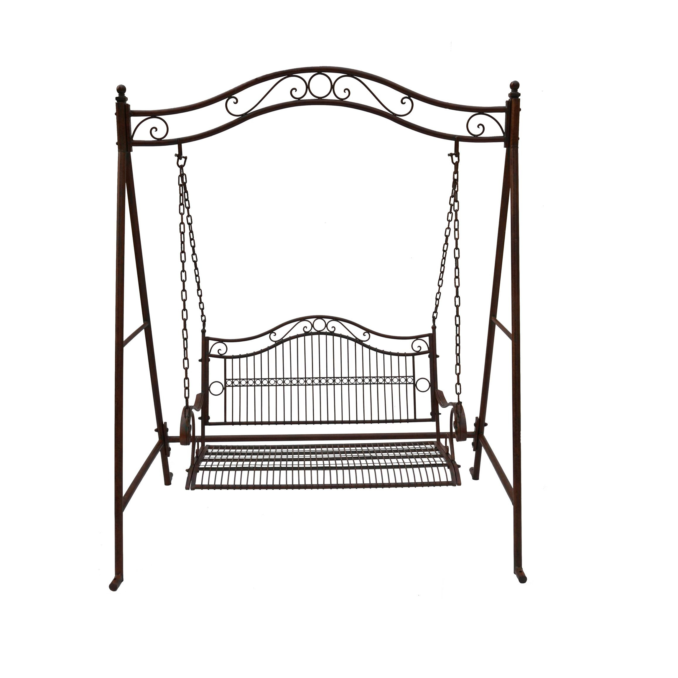 Newest 2 Person Antique Black Iron Outdoor Swings In Swing 2 Seat Bunnings Warehouse (View 3 of 30)