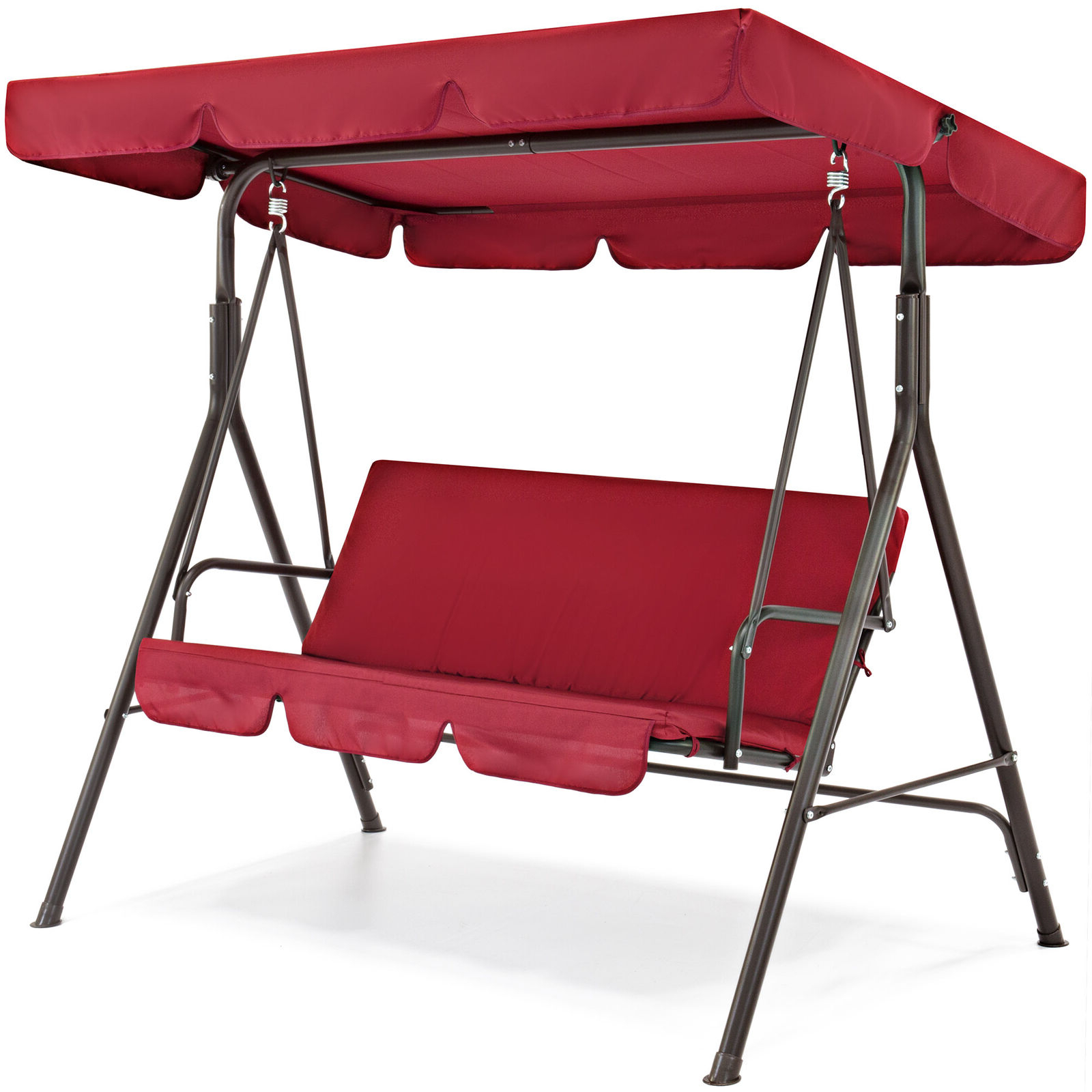 Newest 2 Person Outdoor Convertible Canopy Swing Gliders With Removable Cushions Beige In Best Choice Products Outdoor 2 Person Patio Canopy Swing – Burgundy (View 10 of 30)