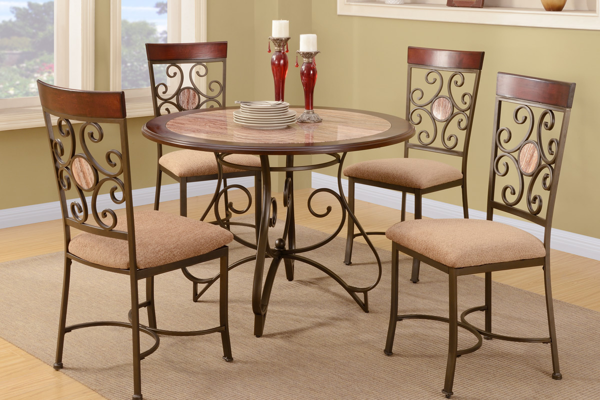 Newest 3 Pieces Dining Tables And Chair Set Inside 5 Pcs Dining Set (Table + 4 Chairs) F (View 15 of 30)
