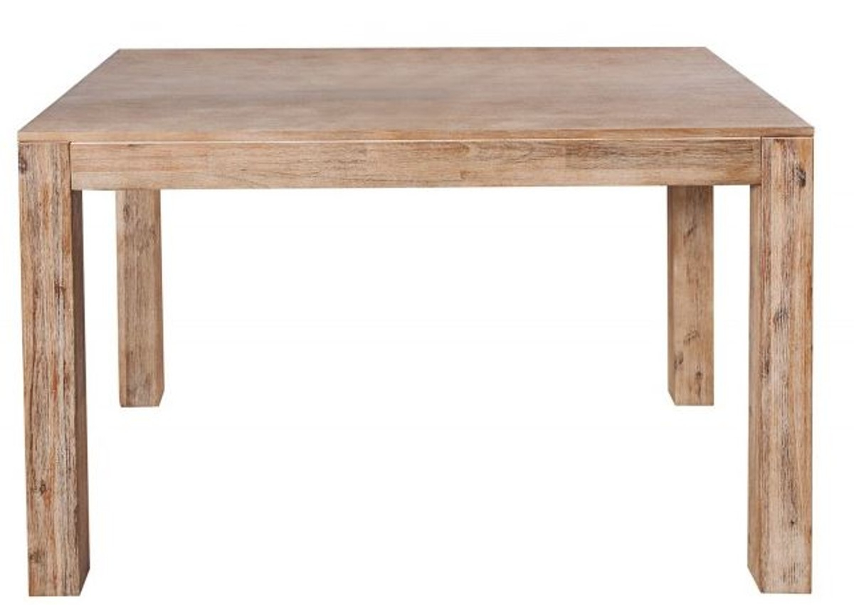 Newest Acacia Dining Tables With Black X Leg For Casa Padrino Solid Wood Dining Table Teak Gray – Acacia (View 27 of 30)