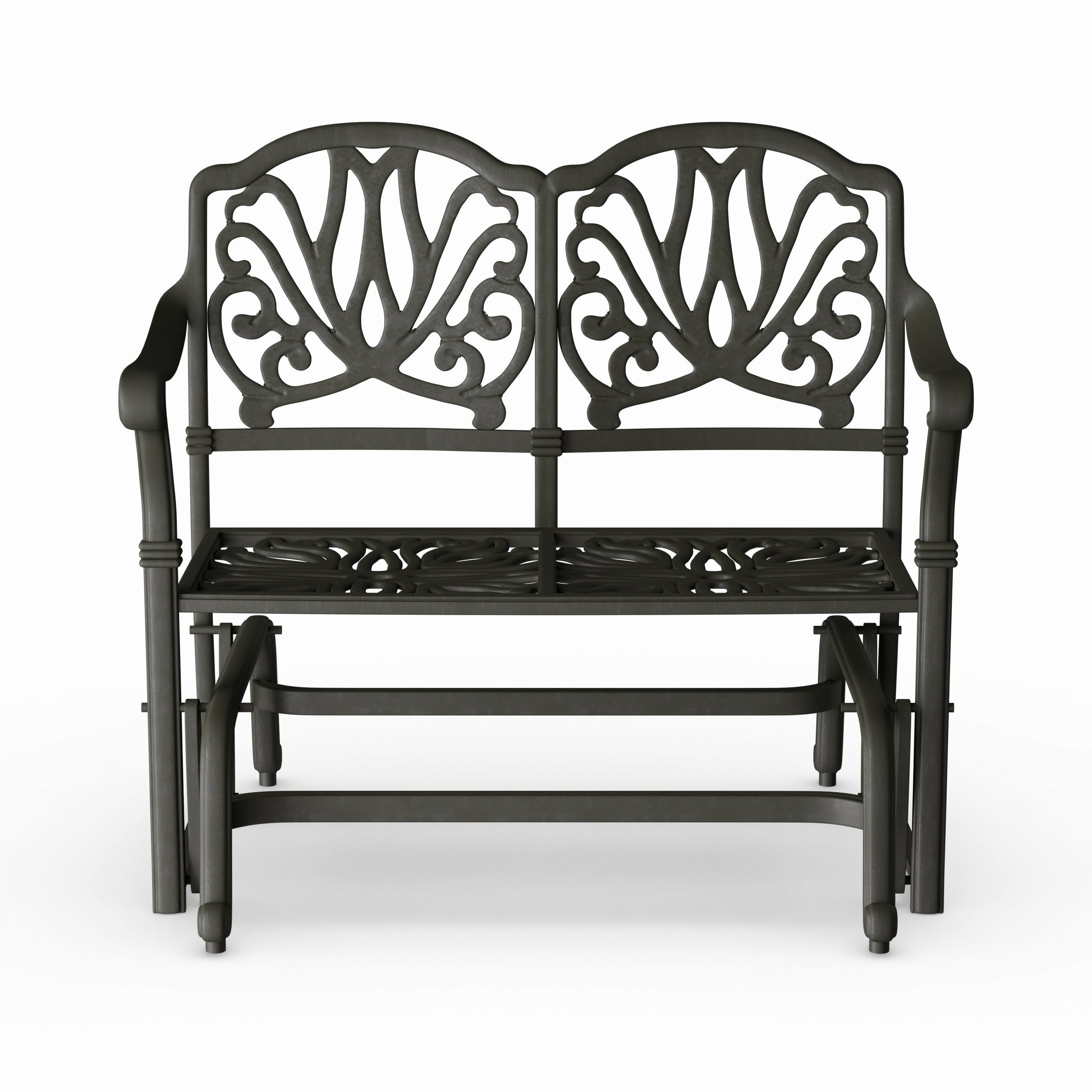 Newest Aluminum Glider Benches With Cushion Intended For Havenside Home Avalon Cast Aluminum Glider Bench With Seat Cushion (View 22 of 30)