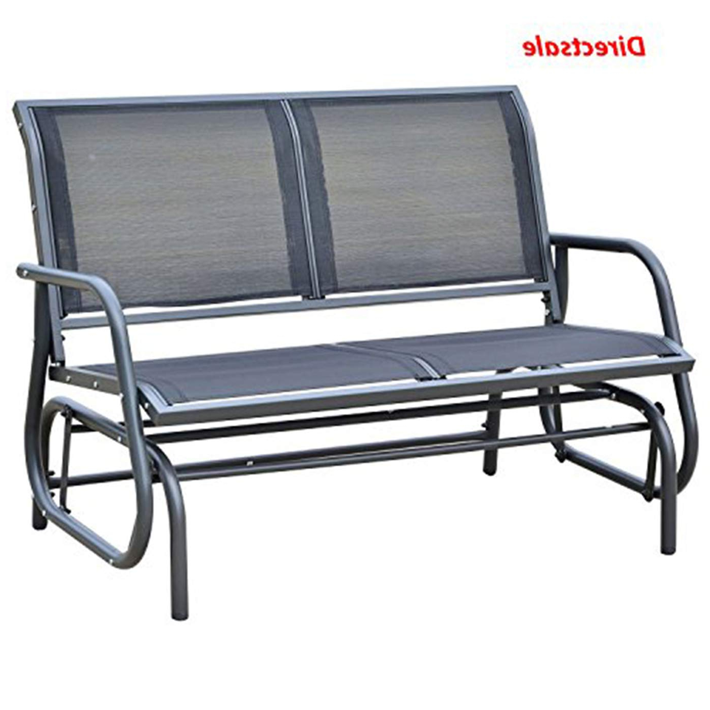 Newest Amazon : Directsale Patio Double 2 Person Glider Bench Inside Double Glider Benches With Cushion (View 5 of 30)