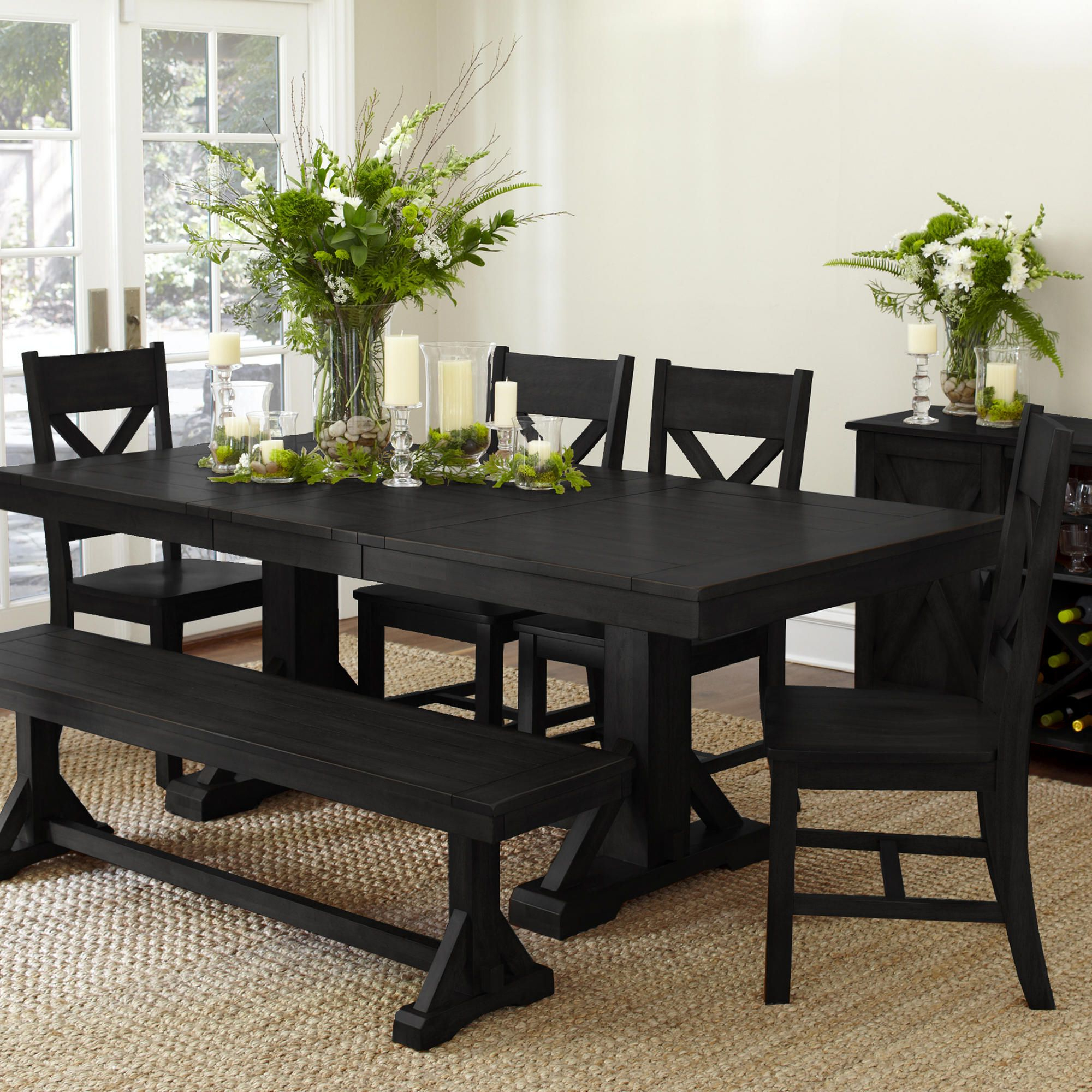 Newest Antique Black Verona Dining Collection (View 20 of 30)