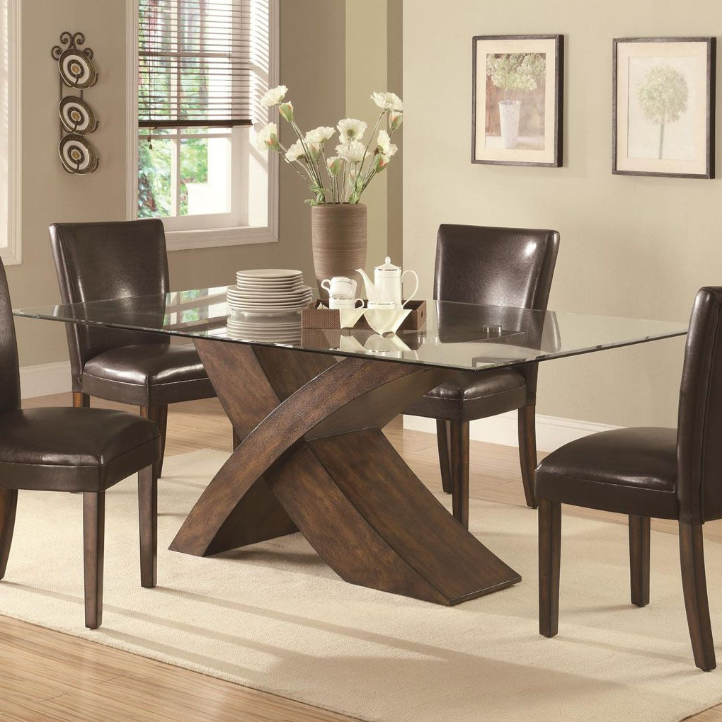 Featured Photo of Rectangular Glass Top Dining Tables