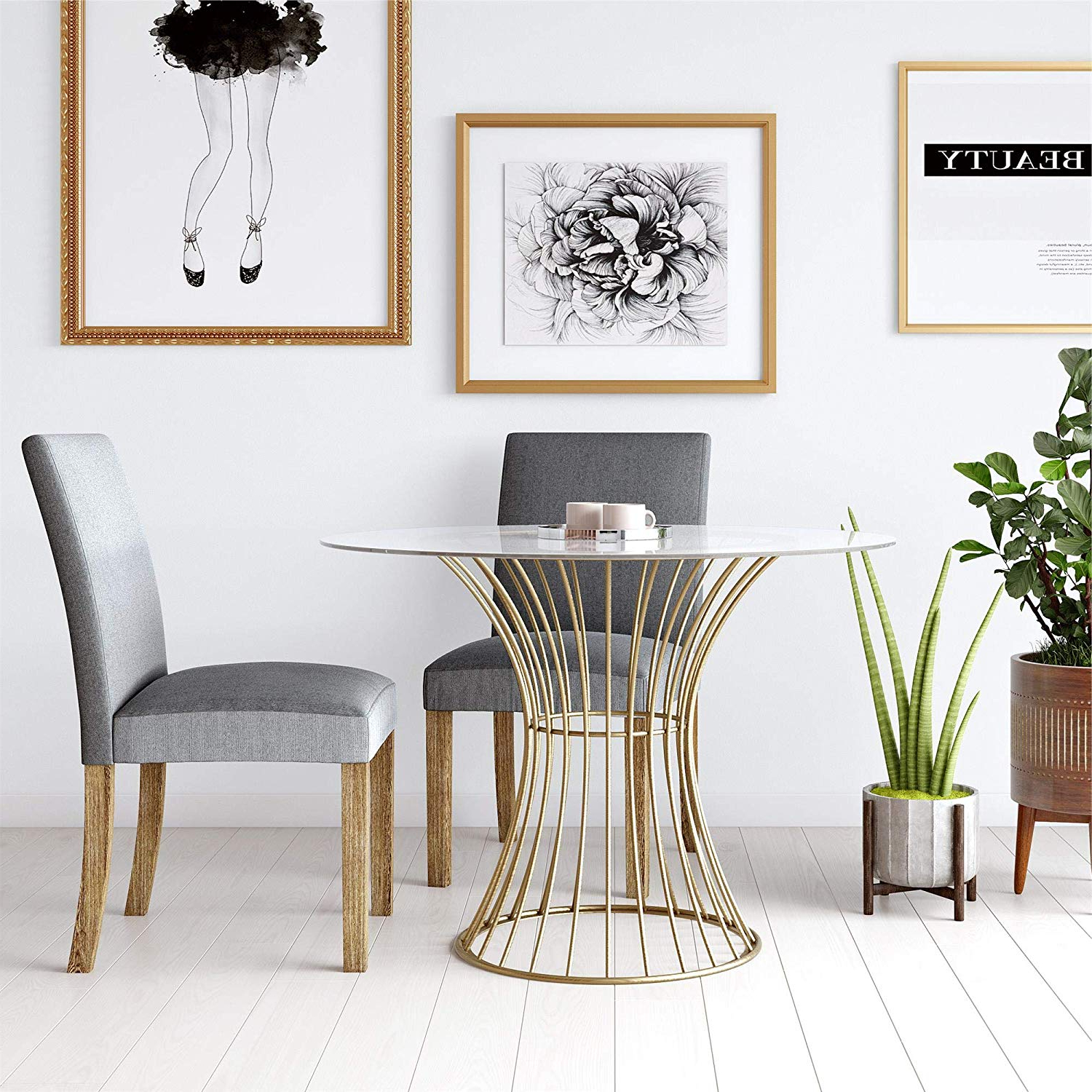 Newest Cosmoliving Westwood Modern Clear Tempered Glass Round Top Inside Modern Gold Dining Tables With Clear Glass (View 26 of 30)