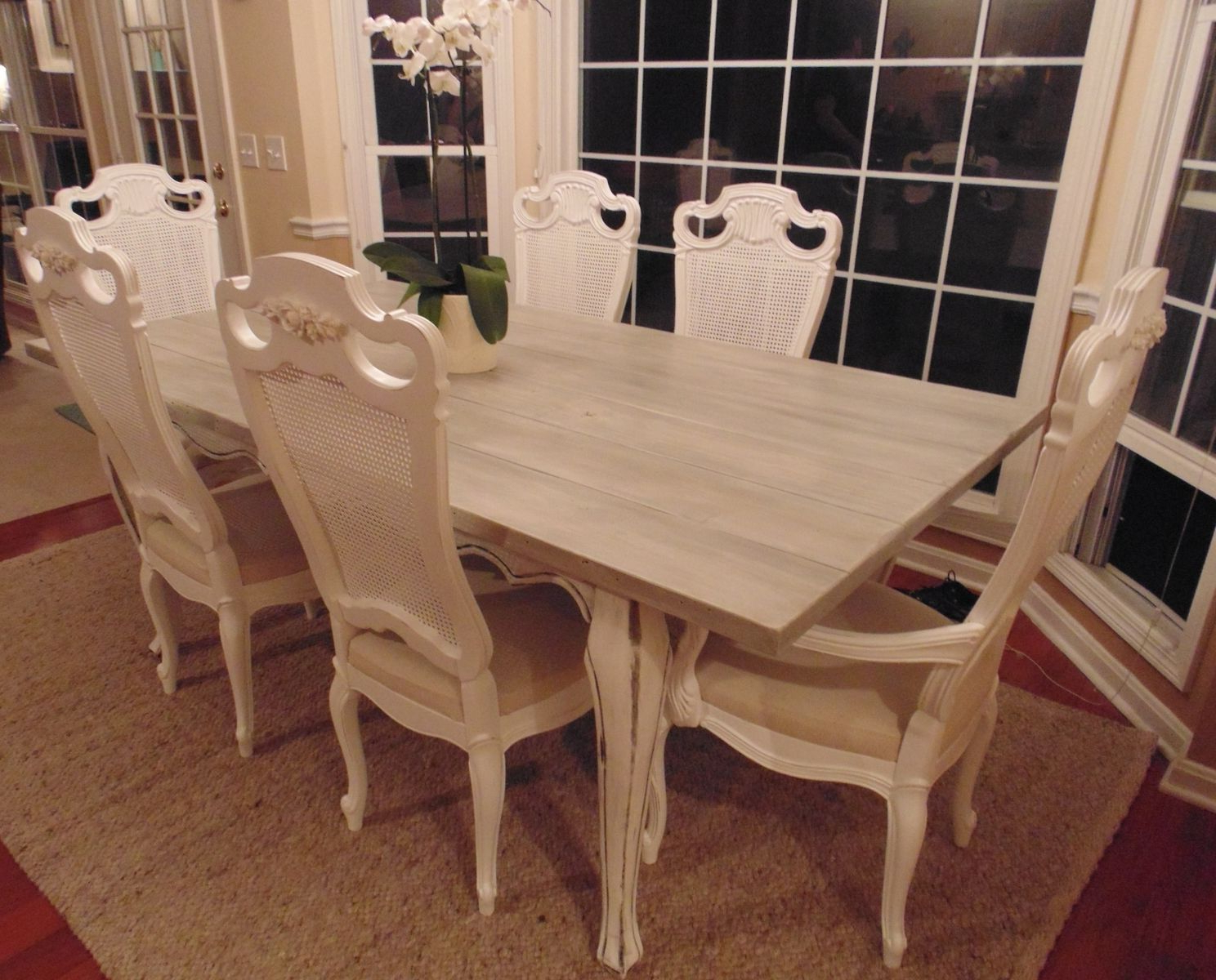 Newest Country Dining Tables With Weathered Pine Finish Throughout Hand Crafted Reclaimed Wood French Country Farmhouse Table (View 27 of 30)