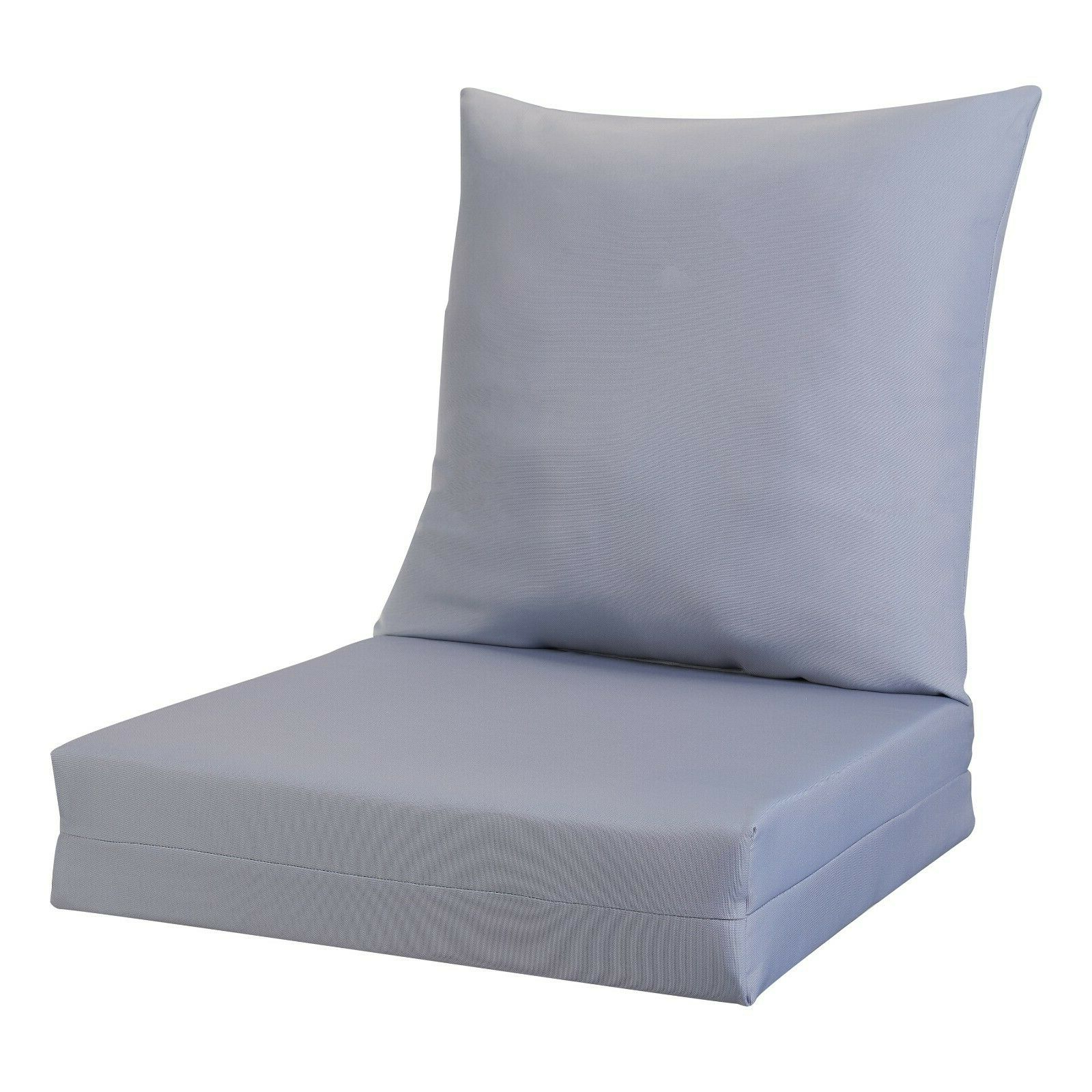 Newest Cushioned Glider Benches With Cushions With Regard To Better Homes And Gardens Solid Deep Seat Cushion Set – Grey (Gallery 21 of 30)