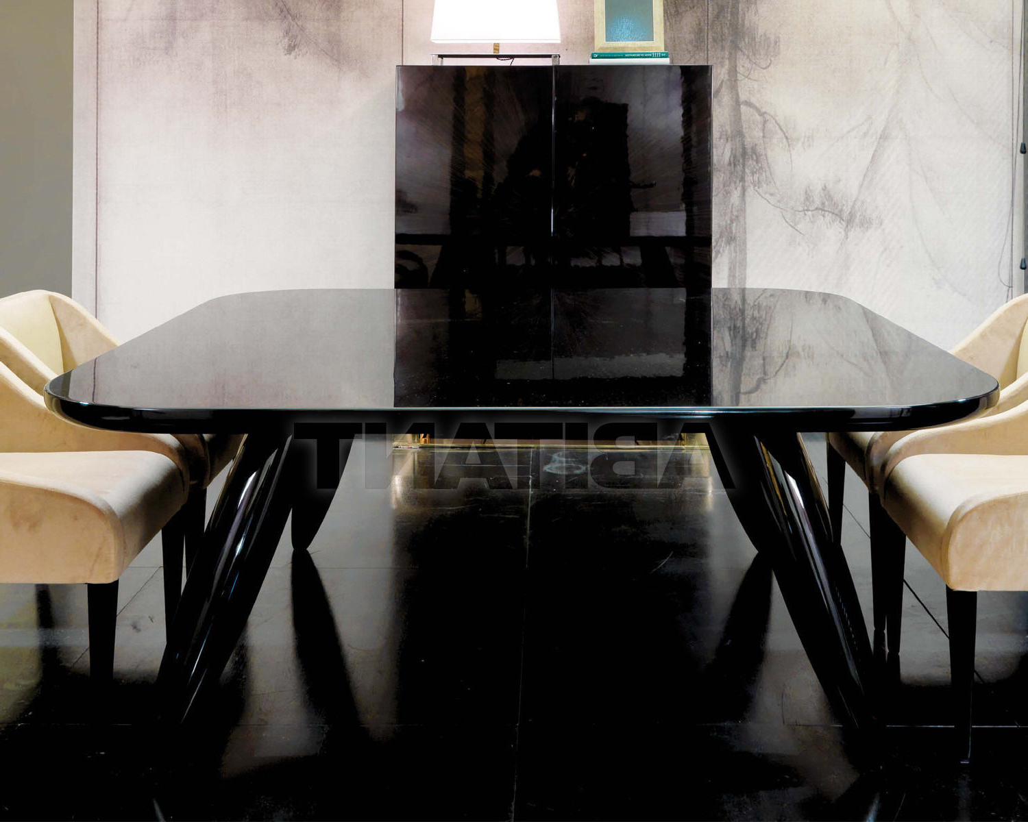 Newest Dom Square Dining Tables Intended For Dining Table Black Dom Edizioni Lollo Square, : Buy, Оrder (Gallery 7 of 30)