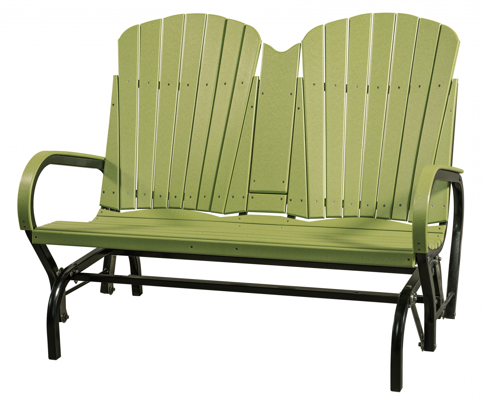 Newest Double Seat Fan Back Glider — Everything Amish In Aluminum Outdoor Double Glider Benches (View 16 of 30)