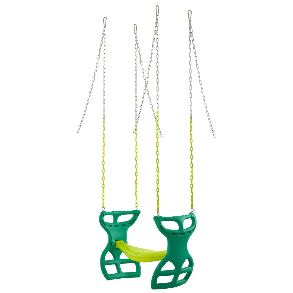 Newest Dual Rider Glider Swings With Soft Touch Rope For Swingan 2 Seater Glider Swing Vinyl Coated Chain Hardware (Gallery 24 of 30)