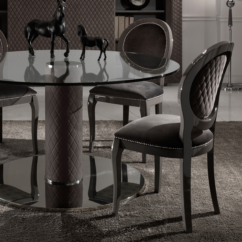 Newest Elegant Large Round Glass Dining Table And Chair Clearance Inside Elegance Large Round Dining Tables (View 26 of 30)