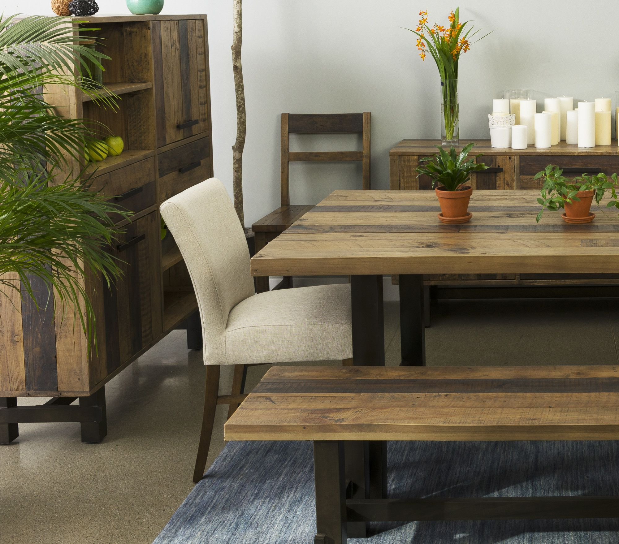 Newest Made From Recycled Pine With An Industrial Metal Base, These Pertaining To Small Dining Tables With Rustic Pine Ash Brown Finish (Gallery 5 of 30)