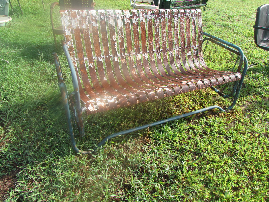 Newest Metal Retro Glider Benches Throughout Unrestored Metal 3Seat Vintage Porch Gliders – Vintage Metal (Gallery 12 of 30)