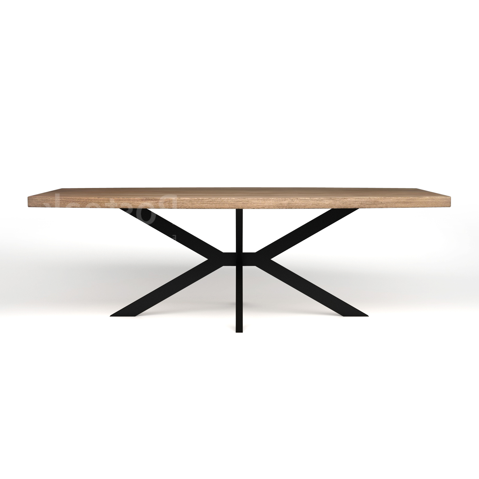 Newest Modern Dining Table – Iron Cross Legs (Gallery 21 of 30)
