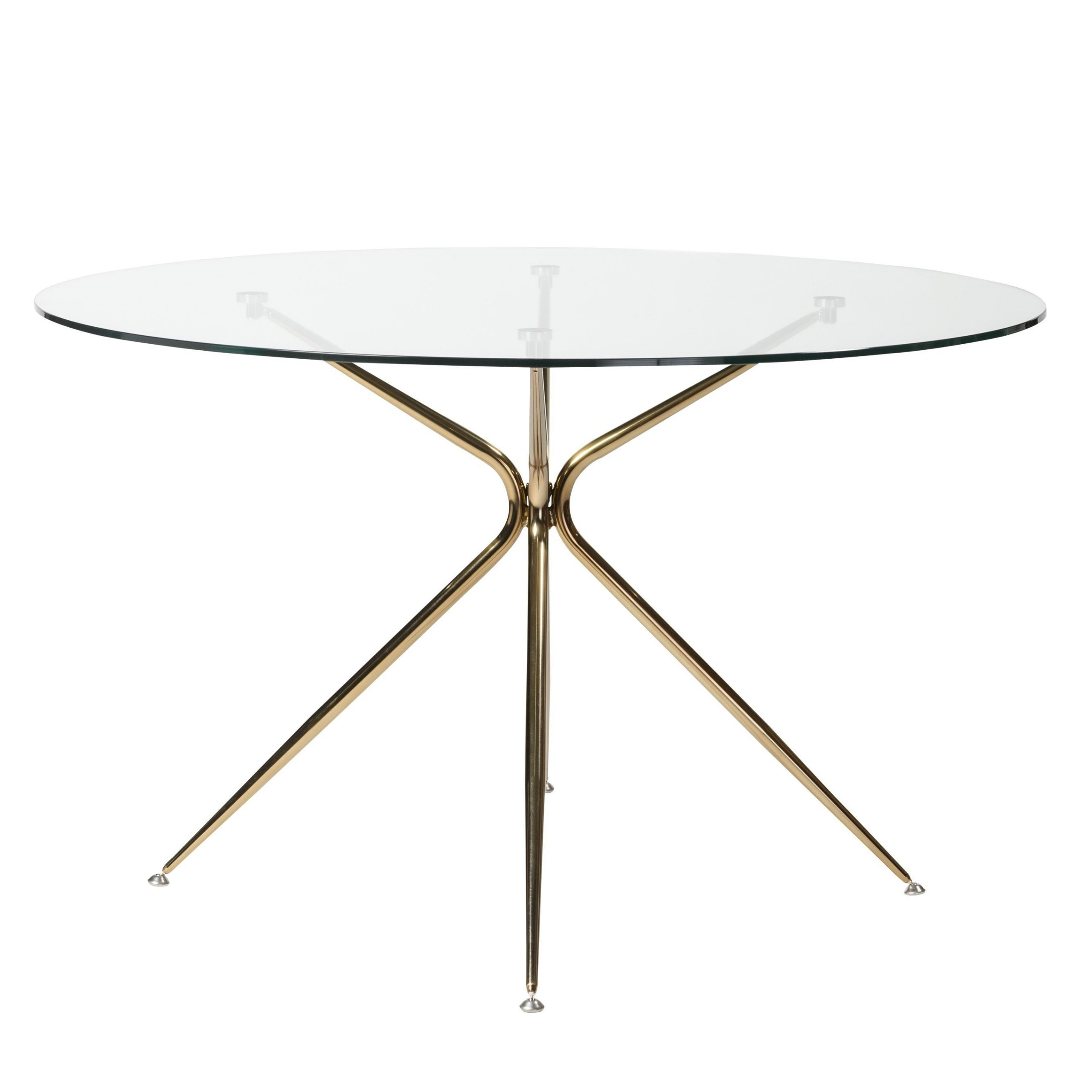 Newest Modern Gold Dining Tables With Clear Glass For Atos 48 Inch Round Dining Table (View 27 of 30)