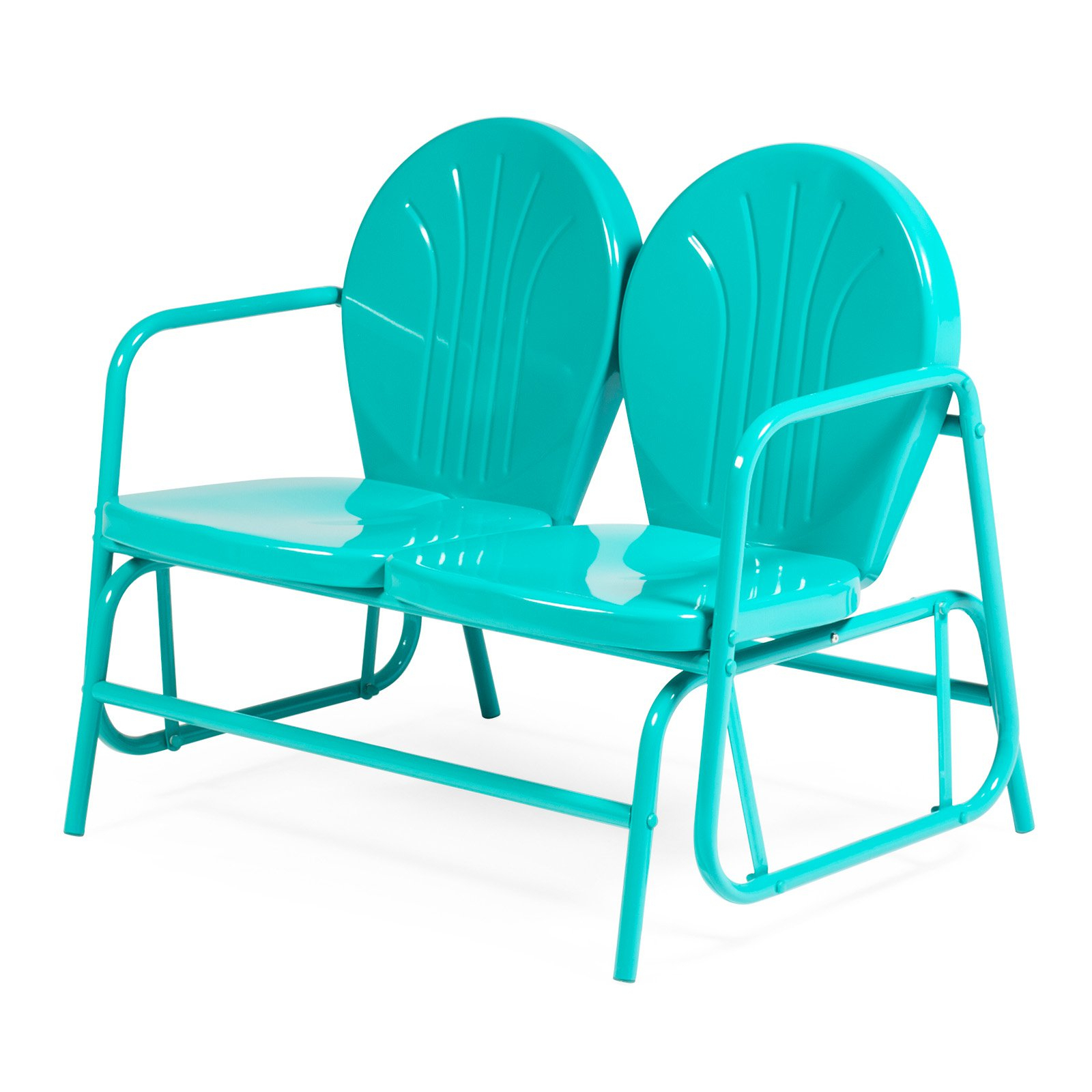 Newest Outdoor Retro Metal Double Glider Benches Pertaining To Coral Coast Vintage Retro Double Glider – Walmart (View 8 of 30)