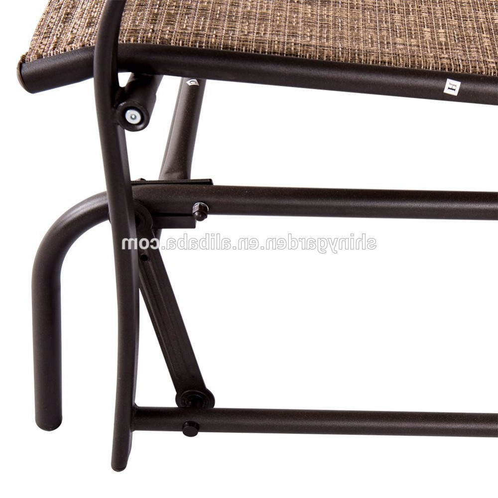 Newest Outdoor Steel Loveseat Double Swing Glider Rocking Chair – Buy Swing Glider  Bench,glider Rocking Chair,double Swing Chair Product On Alibaba Throughout Rocking Love Seats Glider Swing Benches With Sturdy Frame (View 17 of 30)