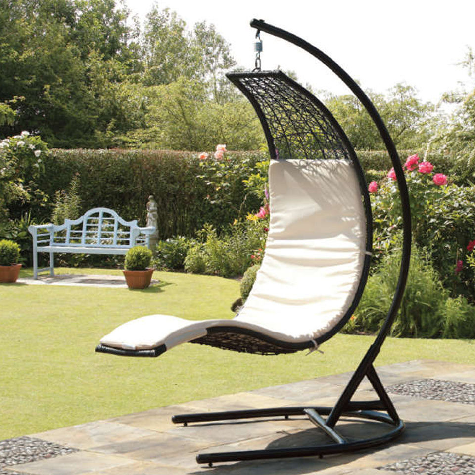 Newest Rattan Garden Swing Chairs Pertaining To China Hot Selling Modern Style Garden Rattan Egg Swing Chair With Or  Without Cushion (Gallery 19 of 31)
