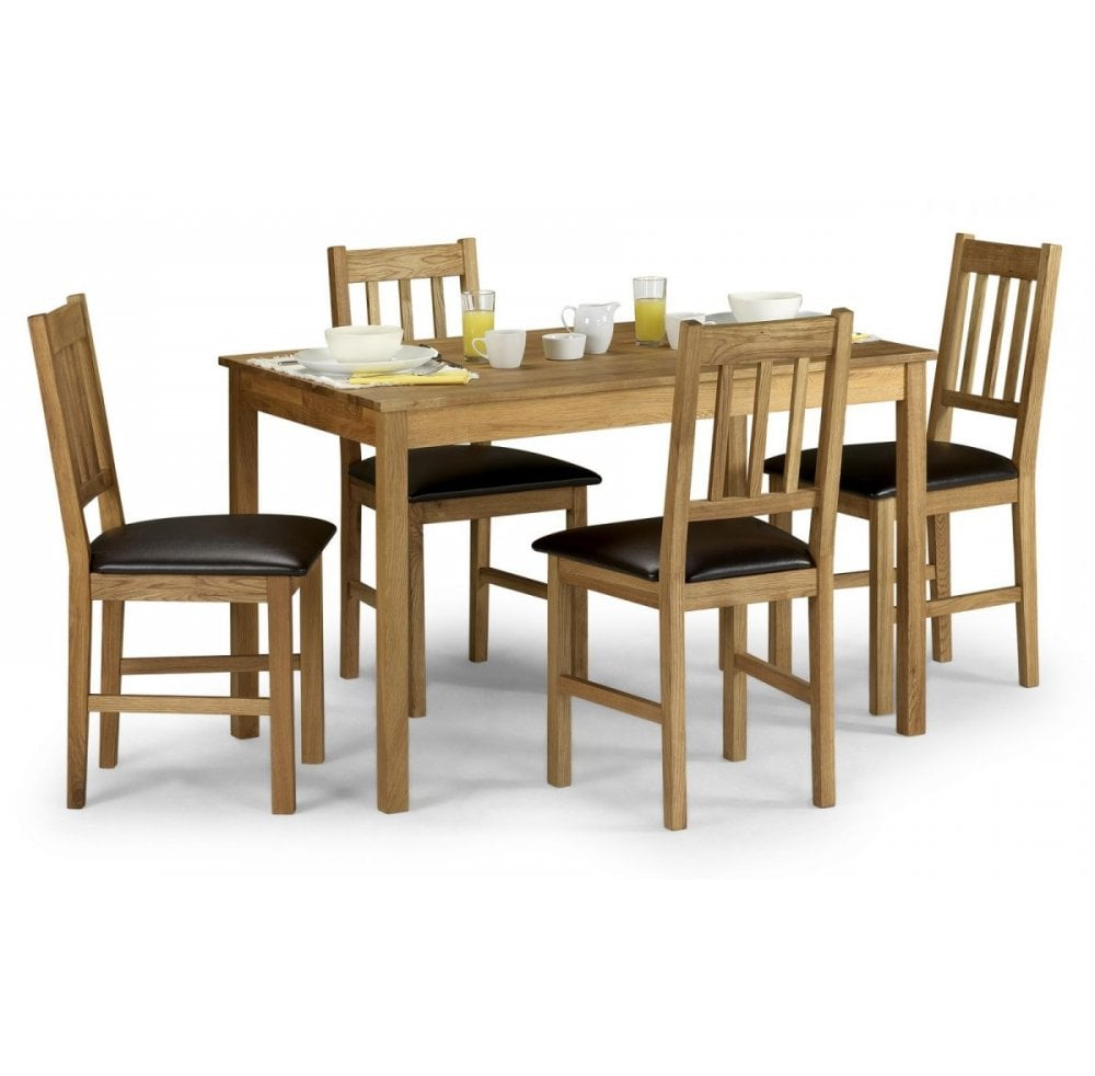 Newest Rectangular Dining Tables Within Cranmore Solid Oak Rectangular Dining Table With 4 Chairs (View 10 of 30)