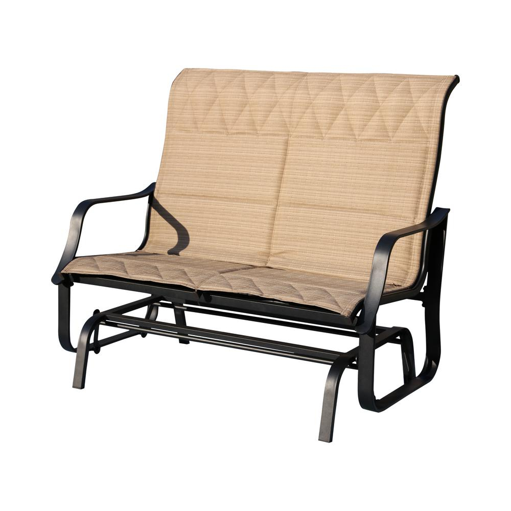 Newest Sling Double Glider Benches For Patio Festival 48 In (View 28 of 30)