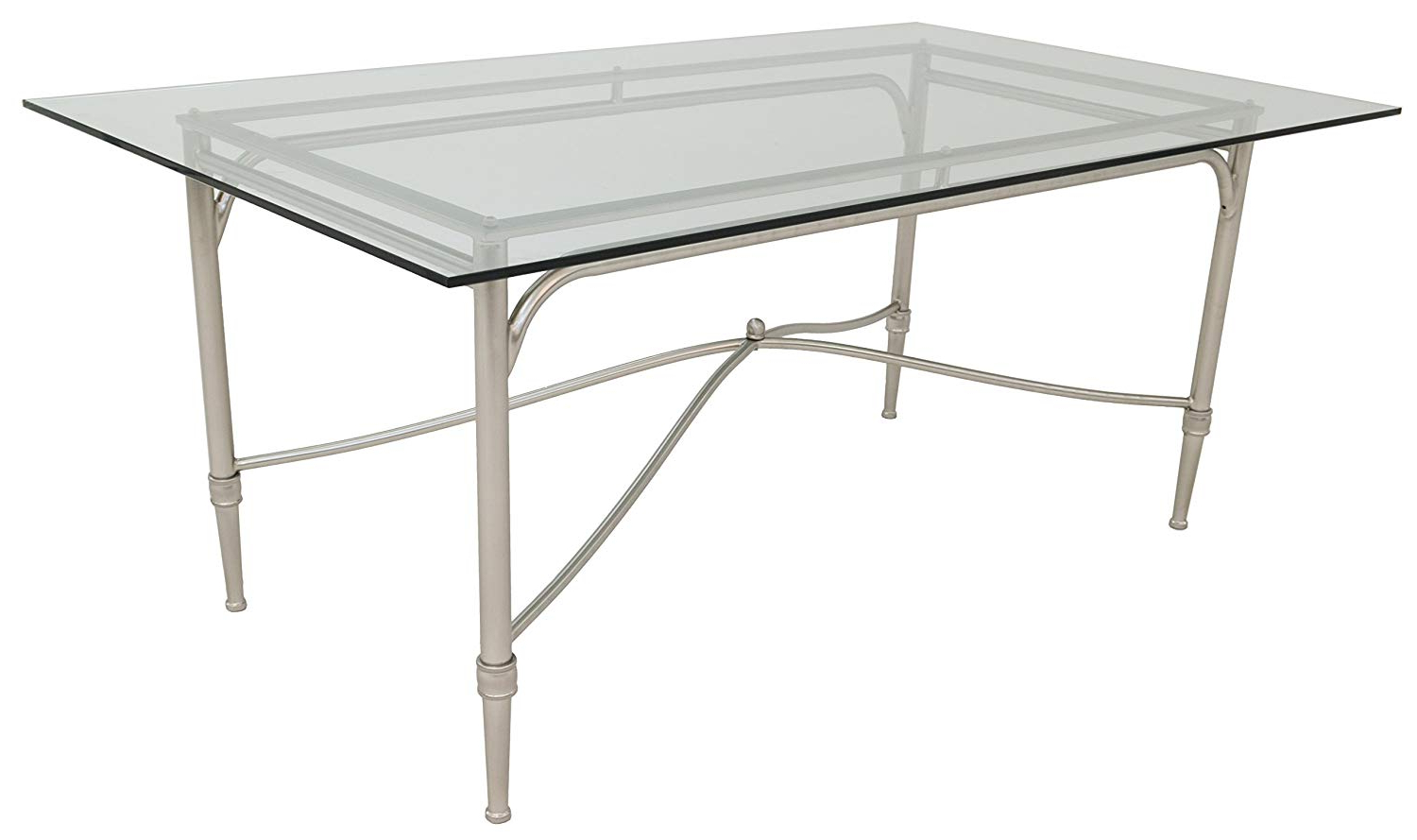 Newest Steel And Glass Rectangle Dining Tables For Amazon – Impacterra Pacifica Rectangular Dining Table (Gallery 7 of 30)