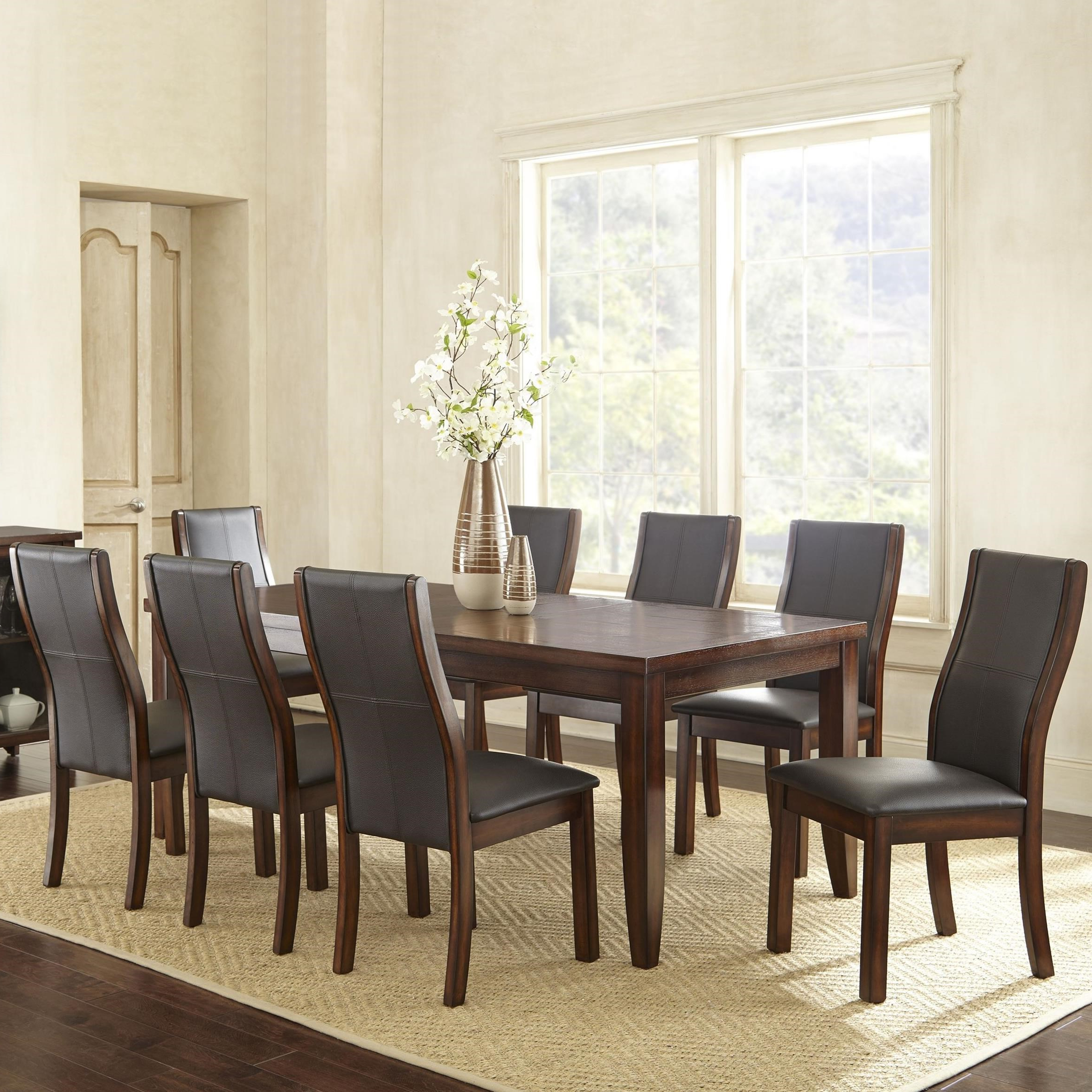Newest Steve Silver Xander Transitional Rectangular Dining Table With Bistro Transitional 4 Seating Square Dining Tables (View 30 of 30)