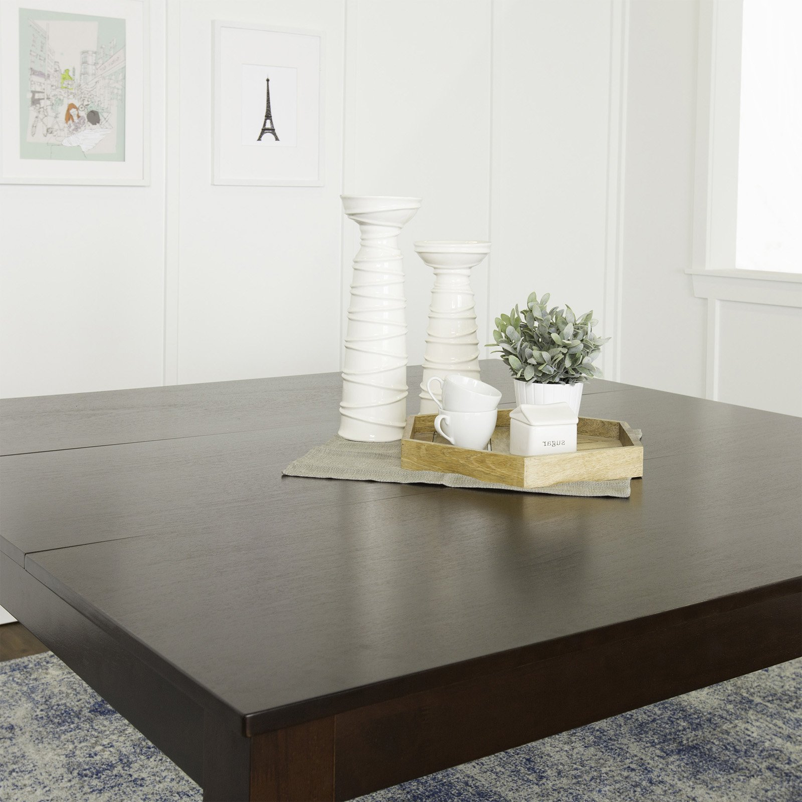 Newest Walker Edison Solid Wood Casual Dining Table – Cappuccino In Cappuccino Finish Wood Classic Casual Dining Tables (Gallery 27 of 30)