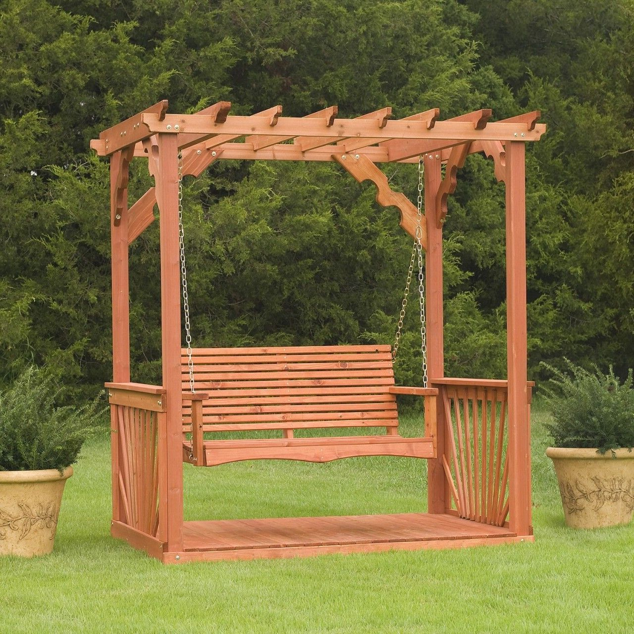 Newest Wooden Outdoor Swings (Gallery 11 of 30)