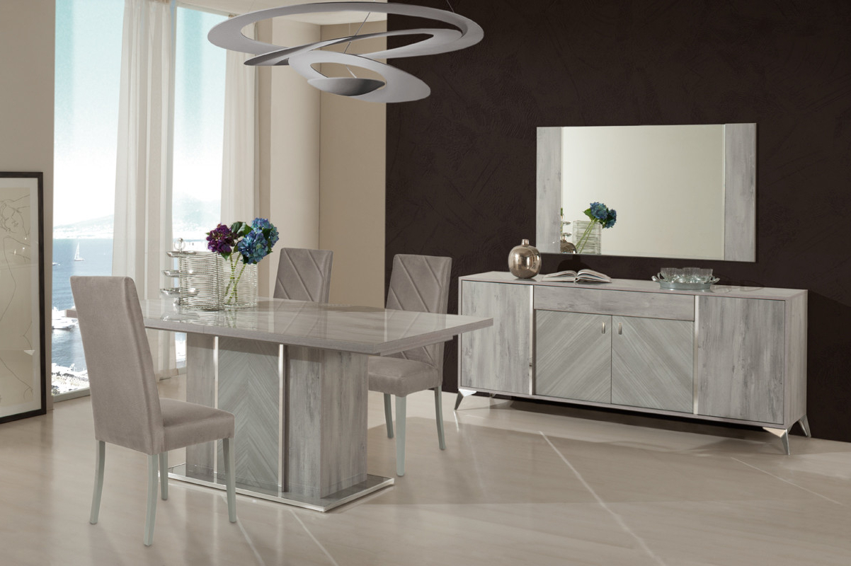 Nova Domus Alexa Italian Modern Grey Dining Table Set Within Newest Modern Dining Tables (View 16 of 30)