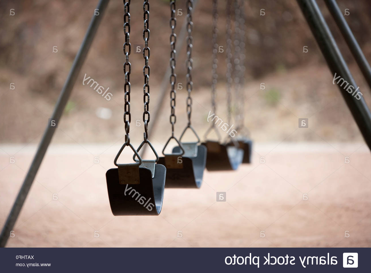 Old Style Playground Swings With Chains And Rubber Seats Inside Well Known Swing Seats With Chains (View 16 of 30)