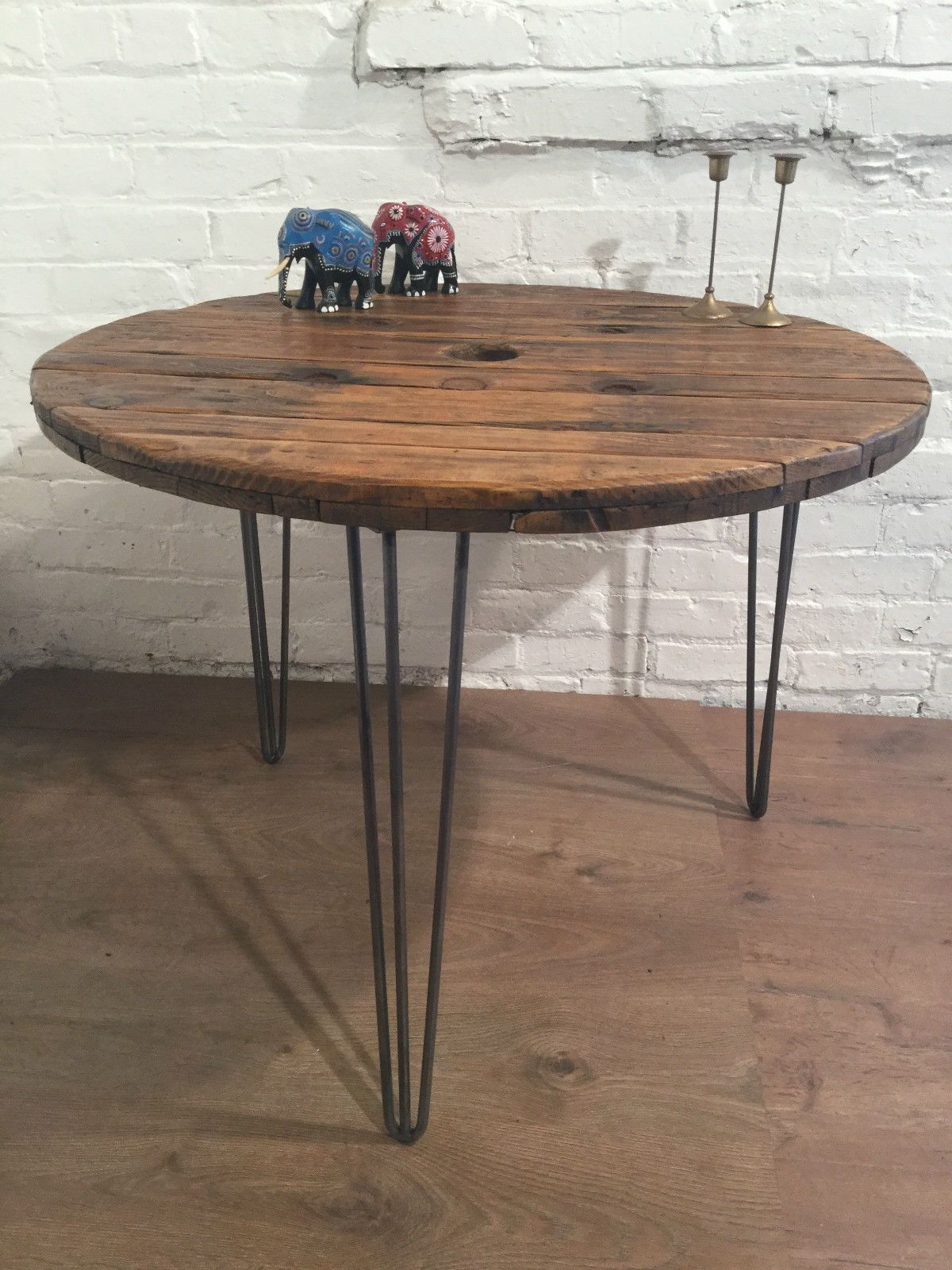 Our Reclaimed Pine Cable Drum Dining Tables On Our Aged Pertaining To Widely Used Neo Round Dining Tables (Gallery 24 of 30)