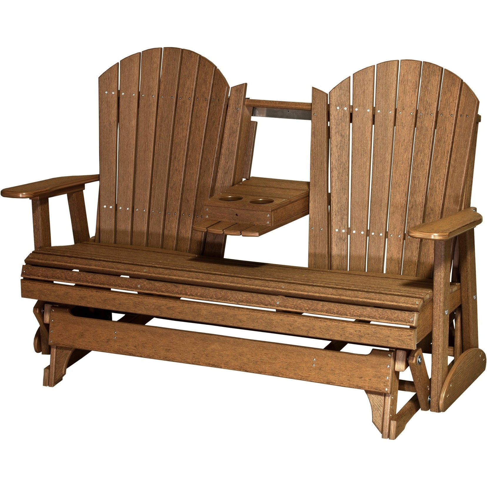 Outdoor 5' Adirondack Glider – Recycled Plastic Inside Famous Classic Adirondack Glider Benches (Gallery 12 of 30)