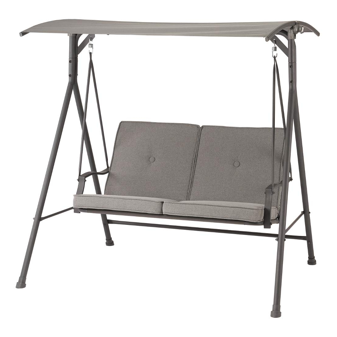 Outdoor Canopy Hammock Porch Swings With Stand With Well Known Amazon : Iron Porch Swing With Steel Frame Stand And (Gallery 14 of 30)